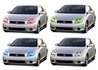 for Scion tC 05-07 RGB Multi Color LED Halo kit for Headlights