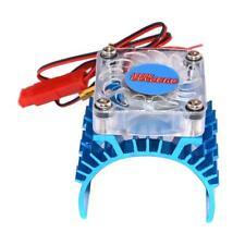 Radiateur en aluminium bleu et ventilateur de refroidissement pour 1:10 HSP