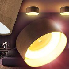LED Deckenleuchte Strahler Stoff Deckenlampe Flur Wohn Zimmer Lampe Küchen braun