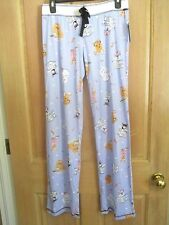NEW* PJ SALVAGE Stretch Lounge Pants Pajamas Sz L Sleep $68 RV Blue Dogs