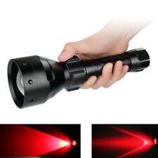 Tactical Cree XPE Red Light 3Mode LED Zoomable Hunting Flashlight Torch For Hunt