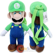 "Super Mario LUIGI Plush Doll Backpack 19"" Costume Bag Nintendo Cosplay Licensed"