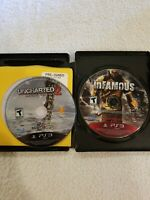 UNCHARTED 2 &Infamous: Greatest Hits - PS3 (DISC ONLY) FREE S/H PLAYSTATION 3