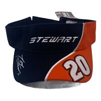 Chase Authentics Tony Stewart #20 Joe Gibbs Racing Black Orange Nascar Visor Hat