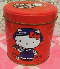 A Very Cute Sanrio 1976, 2012 Maisen Hello Kitty Red Tin Box Can Rare Japan