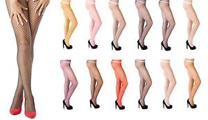 Sexy Ladies Fishnet Tights By Sentelegri - 12 Various Colours , Size S,M,L,XL