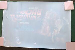 Back To The Future 2 VIDEO STORE Window Cling Poster 1989 Delorean Micheal J Fox
