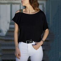 Fashion O Neck Solid Elegant Jumper Top V Neck Pullover Casual New T-Shirt