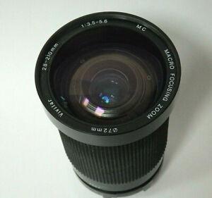 VIVITAR 28-210mm f 3.5 Macro Focusing Zoom Minolta MC Mount SLR Lens