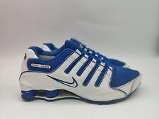Nike Shox NZ- Mens- Size 11.5- White Royal Blue- [378341-404]- Athletic Shoe