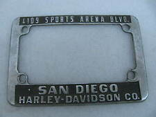 Harley Davidson San Diego, CA License Plate Mount Frame Knucklehead Panhead