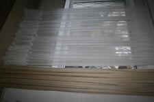 Gardine Vorhang Store Dekoschal Faltenband Aufhängern halbtransp Weiß  250x120cm