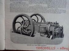 1892 Crossley Brothers Otto Gas Engine Magazine Antique Brickmaking Machinery