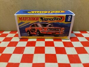 Matchbox Superfast Nr.8 Wild Cat Dragster EMPTY Repro box Only  NO CAR