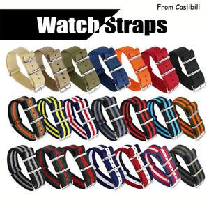 OTAN Canvas Watch Straps 12 14 16 18 20 22 24mm Nylon Band Bond 007 Style Stripe