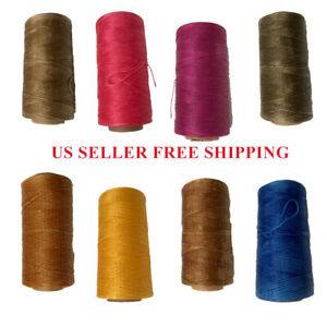 284Yards 20 colors 150D Flat Waxed Thread Leather Hand Sewing Stiching Cord
