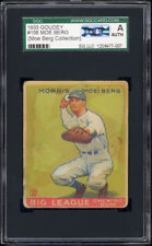 1933 Goudey #158 Moe Berg SGC Authentic - Moe Berg Collection. Catcher Was A Spy