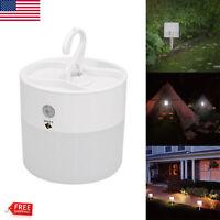 LED PIR Auto Motion Sensor Wall Light Garden Lamp Waterproof Battery Powered US