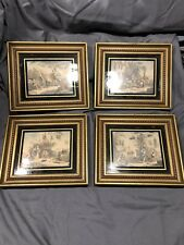 4 Antique Bartolozzi  Antique Framed by CA Richards Pictures Rare