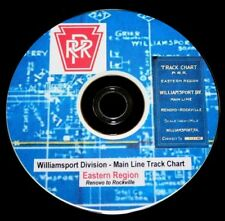 Pennsylvania RR 1942 Williamsport Div. Main Line Track Chart  PDF Pages on DVD
