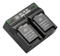 BM 2X EN-EL12 Batteries & Dual Charger for Nikon Coolpix A1000 B600 P330 P340
