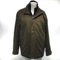 MARC NEW YORK ANDREW MARC Men's Large Green Long Sleeve Windbreaker Jacket