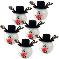 Weihnachts Kugeln rot blinkende Christbaumkugeln 6er Set Weihnachtskugeln Elch