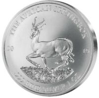 Afrikanischer Springbock Gabun Krügerrand Motiv 2019 - 1 Unze Silber st