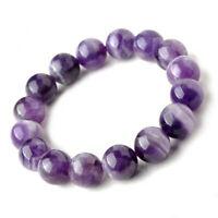 6MM Amethyst Buddhist Bead Bracelet Cuff Spirituality Yoga Gemstone Energy Reiki