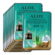 Aloe Face Mask Pack Sheet Moisture Essence Facial Skin Care 9pcs Unisex