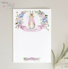 Peter Rabbit THANK YOU CARDS - Pack of 8 - BABY GIRL - NOTELETS FLOPSY