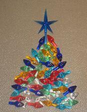 50 Large Ceramic Christmas Tree Twist Flame Light Bulbs + DARK BLUE Star