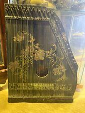"""Antique Instrument  """"The Mandolin Harp"""" Harp"""