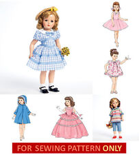 """SEWING PATTERN~MAKE CLOTHES FOR 18"""" DOLL! FITS MISS REVLON~CISSY~SHIRLEY TEMPLE!"""