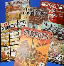 """Lot of 6 Oil/Acrylic Painting """"How To"""" Books - Streets Cities + - Walter Foster"""