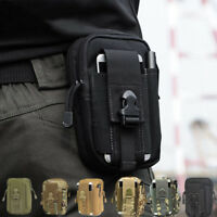 Men Outdoor Tactical Belt Waist Mole Pouch Fanny Pack Bag Phone Military Pocket