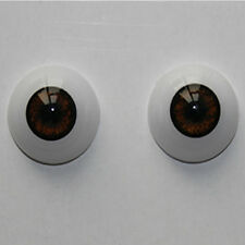 Reborn Baby Doll Eyes 22 mm Half Round Acrylic Eyes Brown for BJD OOAK Doll
