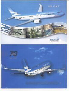 2010/2020 Argentina Two postcards Aerolineas Argentinas MNH