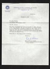 HEW 1968 letter signed Ruby H Strauss * Ellen Winston Health Education & Welfare