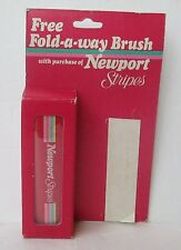 VINTAGE NEWPORT STRIPES  CIGARETTES FOLD A WAY BRUSH, Sealed Package Promotional