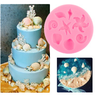 1PC 3D Sea Shell Shaped Silicone Mold Chocolate Fondant Cake Decor Baking Tools