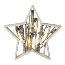 Wooden Star Frame With LED Light Christmas Decoration
