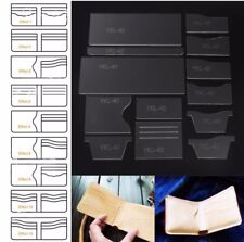 13x New Clear Acrylic Wallet Pattern Template Set Leather Craft DIY Tool S2