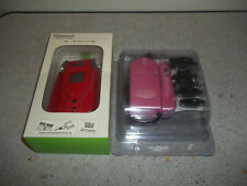 New Naztech Boa Red Cell Phone Case for Motorola Razr/V3 & Pink Charger L@K