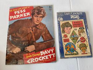 "FESS PARKER, THE REAL-LIFE STORY OF  1955  DELL  WALT DISNEY'S ""DAVY CROCKETT"""
