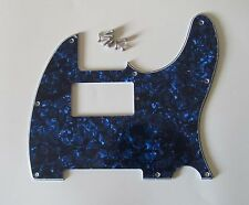 Tele/Telecaster Style Humbucker Pickguard Scratch Plate Blue Pearl 3 Ply