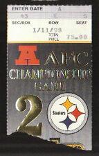 1/11/1998 PITTSBURGH STEELERS DENVER BRONCOS AFC CHAMPIONSHIP GAME TICKET