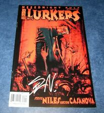 signed THE LURKERS #1 MEEDNIGHT PULP IDW COMIC 2004 1st print STEVE NILES NM COA