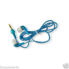 blue/cyan coloured in the ear headphones for Nokia Lumia Lumnia 510 Blue Edition