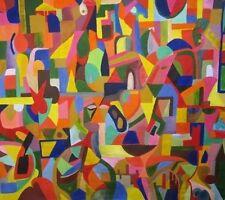 Nantes vilke Lienzo Grande Arte Popular original de dos lados Abstracto Pintura de Lituania